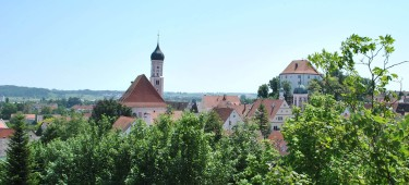Blick auf die Stadt Burgau