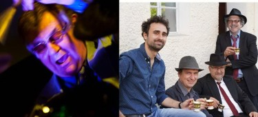 Pete York spielt am Schlagzeug und Band JazzUp