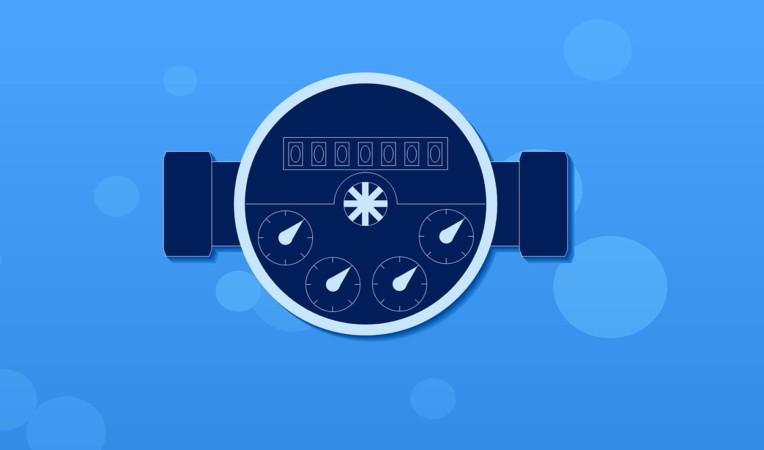 Wasserzähler im Clipartdesign
