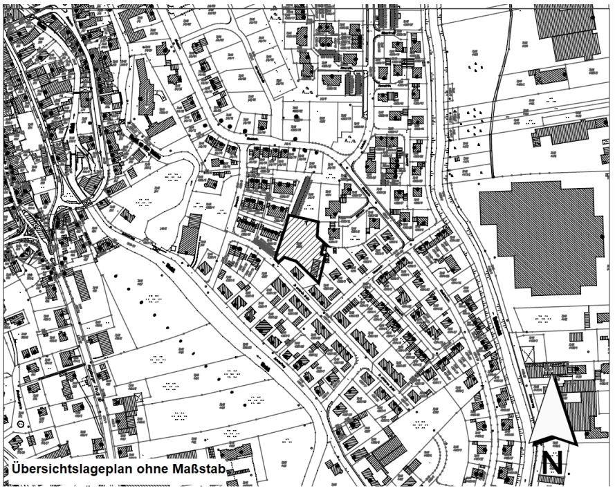 Übersichtsplan: Plangebiet des Bebauungsplans